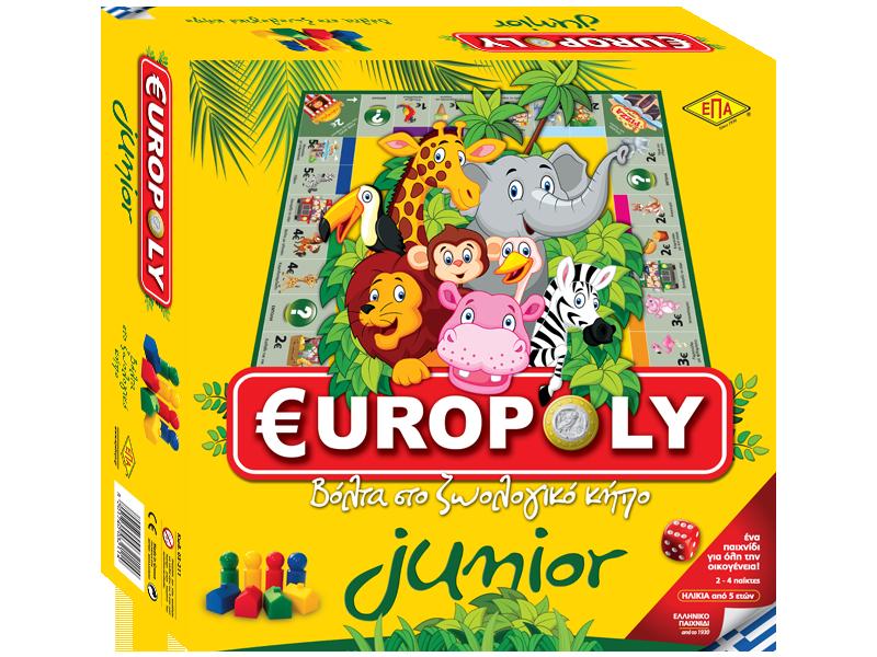 Επιτραπέζιο παιχνίδι για παιδιά €UROPOLY Junior